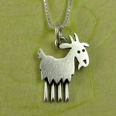 Goat necklace by StickManJewelry on Etsy, $30.00 #babygoatfarm