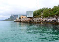 Snorre Stinessen's cabins cantilever over Norwegian Sea