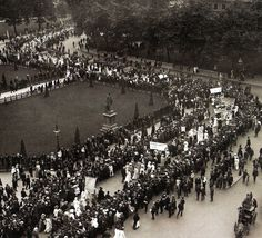 A Suffragette procession passing through Parliament Square, London - 19 March 1908