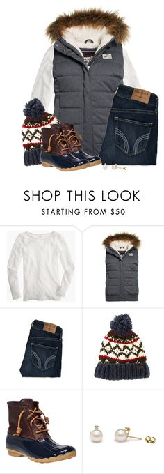 """""""Fur hooded vest, Nordic beanie & duck boots"""" by steffiestaffie ❤ liked on Polyvore featuring J.Crew, Superdry, Hollister Co., Barbour, Sperry Top-Sider, women's clothing, women's fashion, women, female and woman"""