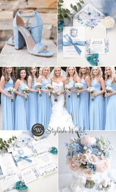french blue and periwinkle watercolor flower in shield shape wedding invitations with silk ribbon Periwinkle Wedding, French Blue Wedding, Blue Hydrangea Wedding, Wedding Dreams, Dream Wedding, Wedding Day, Wedding Colours, Wedding Color Schemes, Pastel Weddings