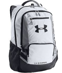 Under Armour Hustle Backpack, White, One Size The Hustle Backpack is made with UA Storm gear which uses a DWR finish to repel water without sacrificing Best Backpacks For School, Cute Backpacks, Teen Backpacks, Leather Backpacks, Leather Bags, Gym Backpack, Backpack For Teens, Modern Backpack, Adidas Backpack