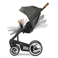 Mutsy Igo Urban Nomad Stroller in Silver/Dark Grey