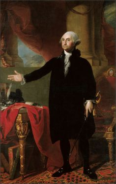 The famous Gilbert Stuart portrait of George Washington, which hangs in the White House still.