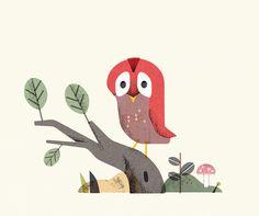 Owl Illustration Pinned by www.myowlbarn.com