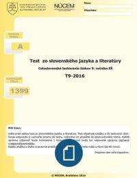 Test zo slovenského jazyka a literatúry