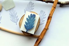Mini carved stamp leaf, -10% Coupon PIN10