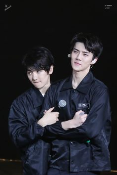 Baekhyun and Sehun.