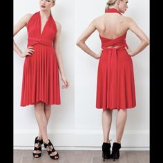 Red Transformer Dress Amazing long transformer dress. Beautiful dress you can wear 100s of different way and have a new look at every party this summer! Doesn't get wrinkled =perfect for traveling. This  is brand new dress. It stretches and fits all sizes and shapes Dresses Midi