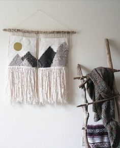 Woven Wall Hanging | Woven Landscape | Wall Hanging | Wall Tapestry | Boho Wall Hanging | Gifts For Her | Boho Decor | Mountain Range | by WovenWildTreasures on Etsy https://www.etsy.com/listing/539131266/woven-wall-hanging-woven-landscape-wall