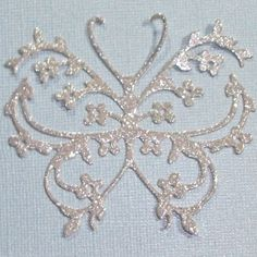 "3"" Flowery Butterfly Die Cut - Silver Glitter - Fixed Price Listing w/GIN Bonus!"