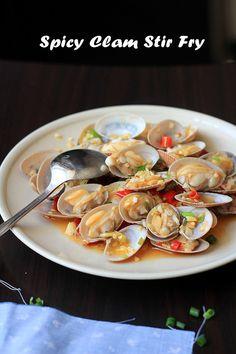clam stir fry