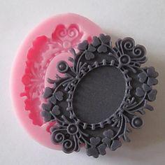 hornear flor pastel fondant molde del caramelo de chocolate, l6cm * w5cm * h0.9cm - CLP $ 1.249