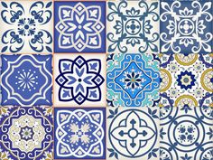 Set of 12 vintage traditional mexican Tiles Decals by AlegriaM