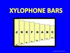 XYLOPHONE BARS WITH MOVEABLE NOTES!  CREATE YOUR OWN DIAGRAMS WITH POWERPOINT! Music Education Activities, Create Your Own, Create Yourself, Music Worksheets, Good Music, Piano, Scale, Notes, How To Plan
