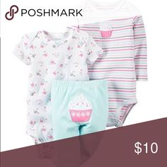 NWT Carter's 3 piece cupcake set 24 months CARTER'S BABY GIRLS TAKE ME AWAY 3-PIECE LITTLE CHARACTER SET -24 MONTHS-CUPCAKE Carter's Matching Sets