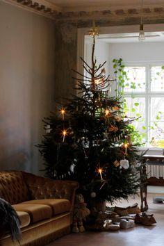 Christmas tree   Malin Persson Winter Wonderland Christmas, Christmas Mood, Noel Christmas, Christmas Lights, Christmas Tables, Xmas, Natural Christmas, Simple Christmas, Minimal Christmas