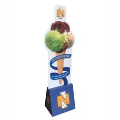Eye-catching POP up Advertising Display, Cardboard Advertising Display Stands for Ice-cream Advertising