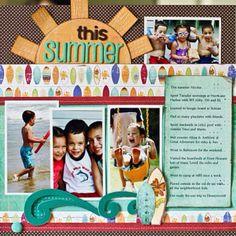 #papercrafting #scrapbook #layout scrapbook layout beach summer fun