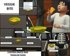 Mod The Sims - 4 Custom Toddler Food and Snacks (Updated Nov, Sims New, The Sims 4 Pc, Sims 3 Mods, Sims 4 Game Mods, Sims Baby, Sims 4 Toddler, Sims Pregnant, Toddler Meals, Toddler Food