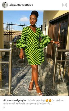 Trendy Short Ankara Dresses To Slay This Month Short Ankara Dresses, African Wear Dresses, African Attire, Ankara Tops, African Outfits, African Print Fashion, Africa Fashion, Trendy Ankara Styles, African Traditional Dresses