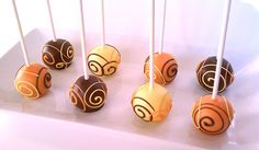 Cake Pops - Thanksgiving Party Favors, Fall Flavors. $21.95, via Etsy.