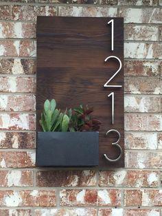 nice Beautiful custom house numbers plaque utilizing reclaimed wood and handmade meta... by http://www.homedecorbydana.xyz/handmade-home-decor/beautiful-custom-house-numbers-plaque-utilizing-reclaimed-wood-and-handmade-meta/