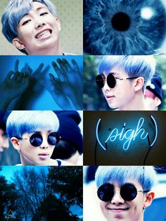 Rap Monster Aesthetic| Jimin's Coloring Book ctto.| Leader-nim in blue~