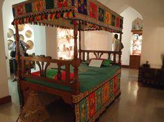 Bed at Bait Zubair museum, Muscat, Oman