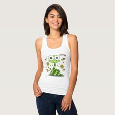 Green Snake Women's Slim Fit Racerback Tank Top