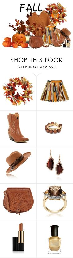 """Colors of Fall !!"" by fashiongirl-26 ❤ liked on Polyvore featuring Very Volatile, Marni, Chloe + Isabel, Warehouse, Journee Collection, Estée Lauder and Deborah Lippmann"
