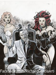 Two-Face and Sugar and Spice by irongiant775.deviantart.com on @deviantART