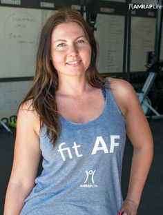 You've put in the reps, now let everyone know you're fit AF in this CrossFit inspired workout tank.