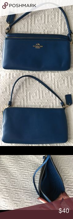 Coach wristlet Royal Blue Coach Wallet/wristlet. Coach Bags Clutches & Wristlets