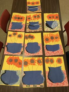 Kindergarten spring flowers, #kindergarten #kindergartenart #artlessons #elementaryart #elementaryartlessons #primaryart primary art lessons, kindergarten flowers
