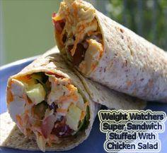 Weight Watchers Super Sandwich Stuffed With Chicken Salad
