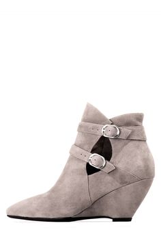 Jeffrey Campbell Shoes EVELINE New Arrivals in Taupe Suede