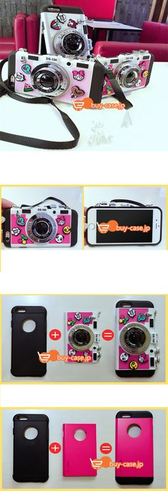 iphone6sケース日系カメラ型アイフォン6plus iPhone7耐衝撃オリジナル5.5sストラップ付きソフトシリコン製4.7女子向け6sスマホ携帯カバー