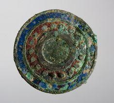 Roman bronze and enamel brooch