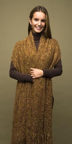 Crochet Elegant Comfort Shawl in Lion Brand Moonlight Mohair - 60392-C