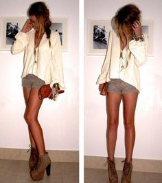 I wish I had a whole list of places to wear this outfit, and I wish my legs looked that good so I could pull it off.