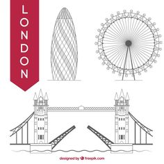 London Eye, Vector Hand, Vector Free, London Sketch, Monuments, Radha Krishna Wallpaper, Modern Architecture, How To Draw Hands, Bullet Journal