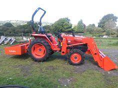 Kubota Tractors, Go Kart, Barn, Vehicles, Karting, Converted Barn, Car, Barns, Shed