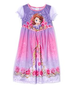 Another great find on #zulily! Purple Sofia the First Roses Nightgown - Girls by Sofia the First #zulilyfinds