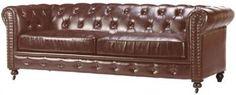 Leather Tufted Sofa.