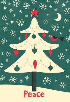 Peace Christmas Tree by mrmack, via Flickr (It'd make a great applique quilt for Christmas!)