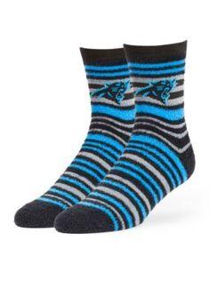 821747  Carolina Panthers Shiloh Half Crew Socks - Single Pair
