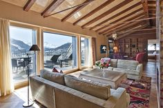 Celebrating 150 years of winter tourism in St. Moritz..Penthouse at the Carlton Hotel