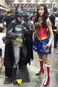 She is brave! She is fierce! I chose to make a Wonder Woman cosplay to wear to the Dallas Comic Con (now called. Batgirl, Catwoman Cosplay, Wonder Woman Cosplay, She Is Fierce, Superhero Birthday Party, Disney Cosplay, Halloween Fun, Halloween Makeup, Comic Books Art