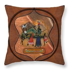 "Gone shopping Throw Pillow 14"" x 14"""